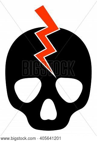 Death Strike Icon With Flat Style On A White Background. Isolated Vector Death Strike Icon Illustrat