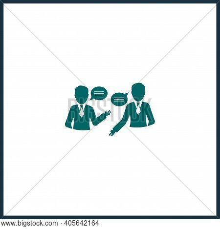 Working Dialogue Isolated Vector Icon. Business Dialogue Design Element