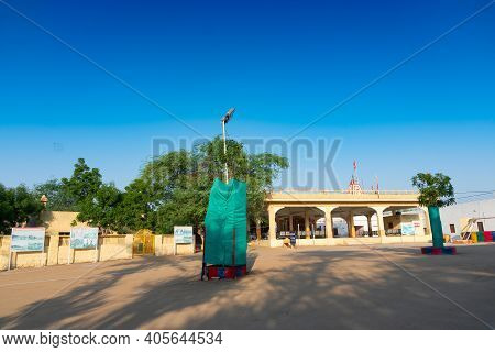 Jaisalmer, Rajasthan, India - 15th October 2019 : Memorials At Tanot Mata Mandir At India Pakistan B