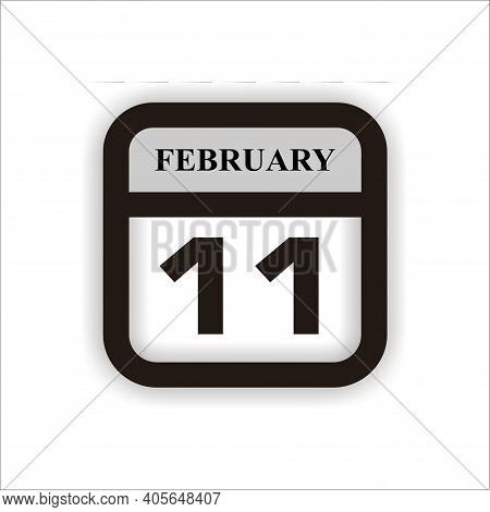 Calendar Icon 11 Isolated On White Background, Calendar Icon Vector Flat Modern, Calendar Icon, Cale