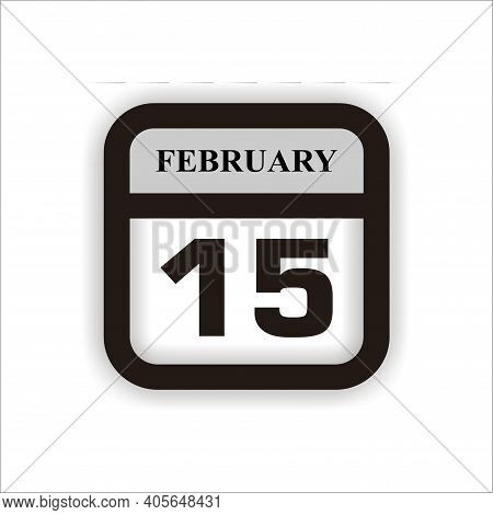 Calendar Icon 15 Isolated On White Background, Calendar Icon Vector Flat Modern, Calendar Icon, Cale
