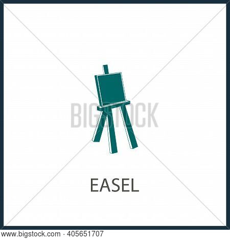 Canvas Vector Icon, Canvas For Drawing Simple Isolated Icon