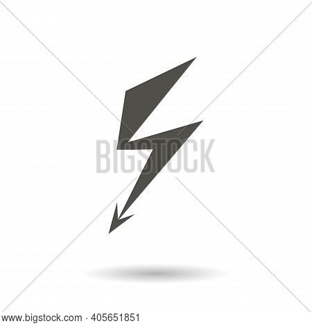 Electricity Icon. High Voltage Vector Icon, Electricity Simple Isolated Icon