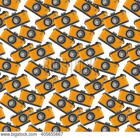 Camera Colourful Modern Seamless Repeating Vector Pattern