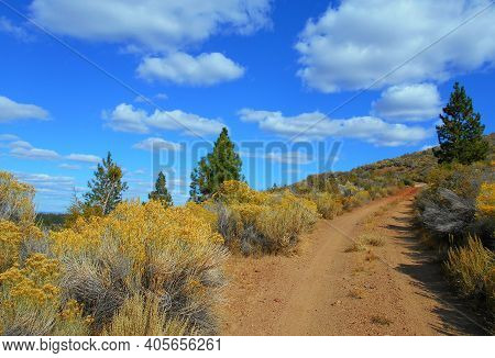 High Desert Ride - The Road Up To The Top Of Plot Butte - South Of Millican, Or