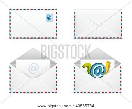 Newsletter Icons Vector Set