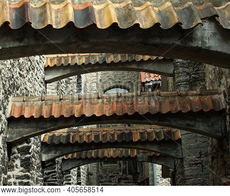 Roofs Of Old Town. (tallinn, Estonia, Europe)