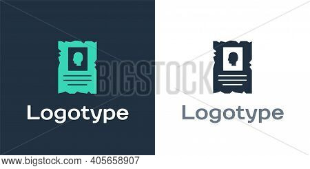 Logotype Wanted Western Poster Icon Isolated On White Background. Reward Money. Dead Or Alive Crime