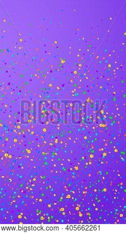 Festive Posh Confetti. Celebration Stars. Bright C