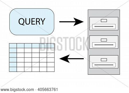 Database Query, Vector Picture For Presentations, Articles, Queries Explained, Sql Mysql Create Tabl