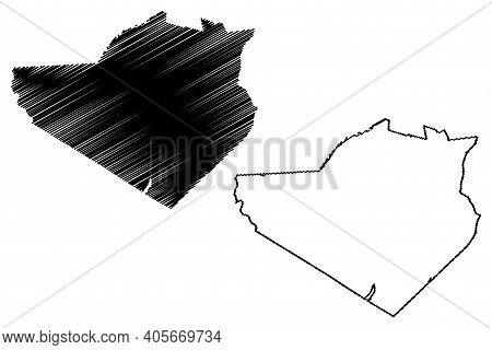 Orange County, New York State (u.s. County, United States Of America, Usa, U.s., Us) Map Vector Illu
