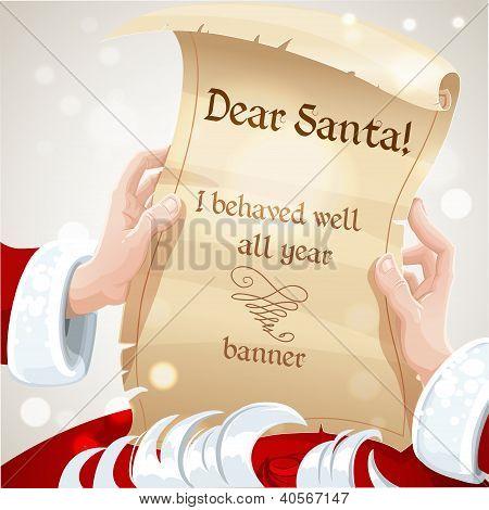 Dear Santa I behaved well all year