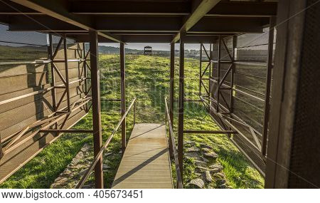 Northeast Corner, Excavated By Adolf Schulten In 1927. Caceres El Viejo Roman Camp, Extremadura, Spa
