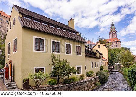 City Cesky Krumlov (unesco Heritage), Czech Republic