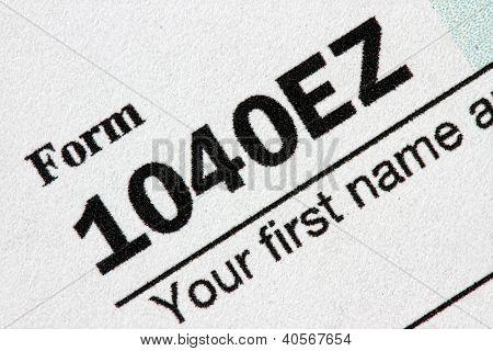 U.S. Tax Form 1040EZ
