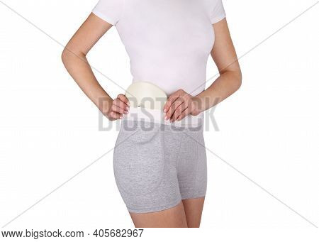 Hip Brace With Two Cushion Pads. Bandage Protector On The Hip Joint. Medical Compression Underwear F