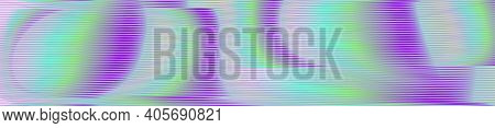 Psychedelic Vector Pastel Colored Background With Optical Illusion Of Wavy Lines And Moire Effect. M