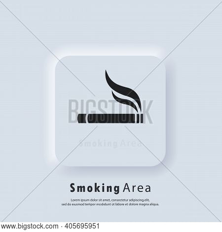 Cigarette Icon. Smoking Area Symbol. Cigarette Smokers Zone, Smoking Permitted. Vector. Ui Icon. Neu