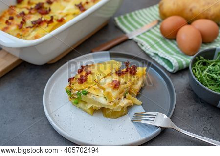 Spanish Potato Omelet Called Tortilla De Patatas