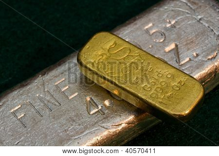 Pure Gold and Silver Bullion Bars - Ingots