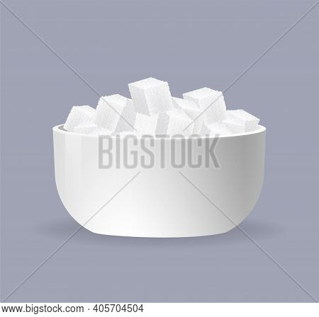 Sugar Cubes, Great Design For Any Purposes. Abstract Background. 3d Illustration. Vector Illustratio