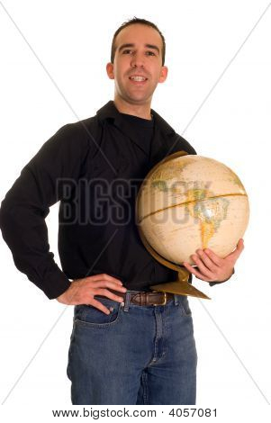 Man Holding The Planet
