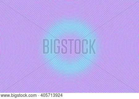 Pink And Blue Dotted Halftone Vector Background. Subtle Halftone Digital Texture. Faded Dotted Gradi