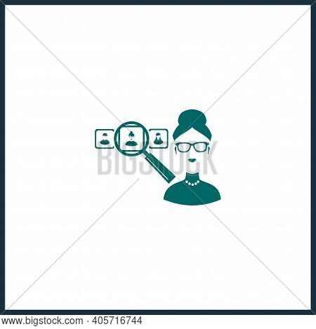 Hr Manager Vector Icon, Hr Manager Simple Isolated Icon