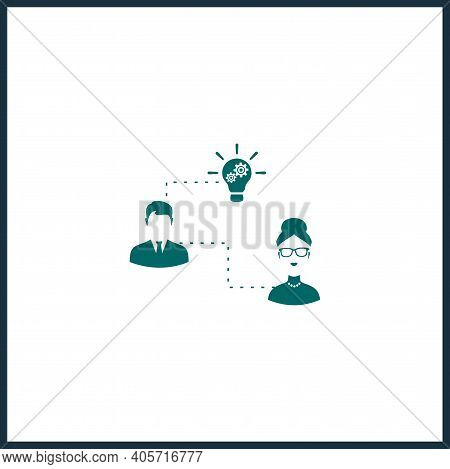 Hr Strategy Vector Icon, Hr Strategy Simple Isolated Icon