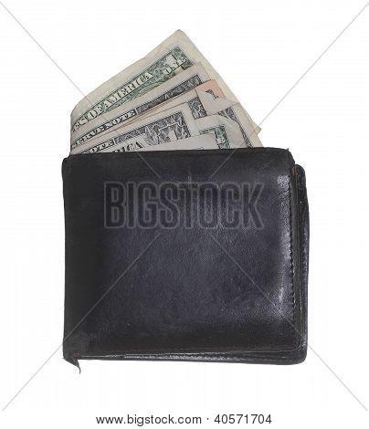 Hackneyed Purse With Dollars