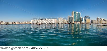 Dubai, United Arab Emirates - 04 December, 2018: View Of Dubai Creek, A Saltwater Creek Located In D