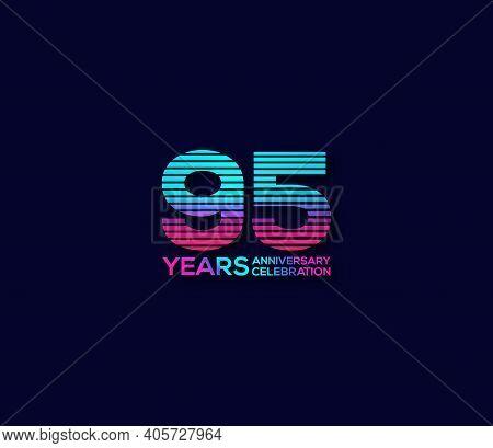95 Year Anniversary Celebration Day Modern Background Concept