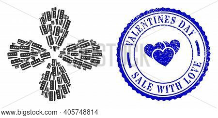 Credit Card Centrifugal Motion, And Blue Round Valentines Day Sale With Love Unclean Watermark With