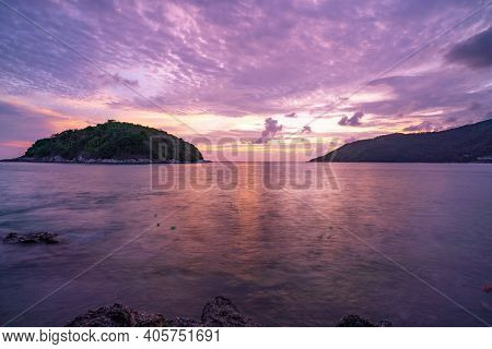 Beautiful Small Island In The Sea Nature Landscape Of Beautiful Scenery In Phuket Island In Golden H