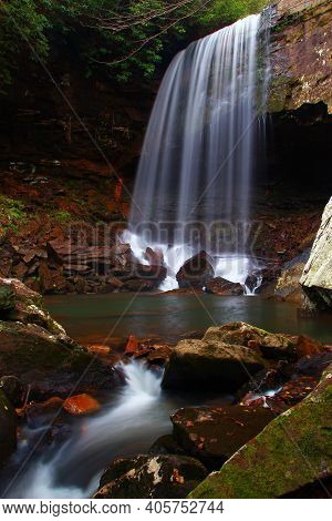 Sutter Falls In South Cumberland State Park In Tennessee