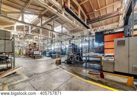 The Interior Of The Metalworking Shop. The Interior Of The Metalworking Shop. Modern Industrial Ente