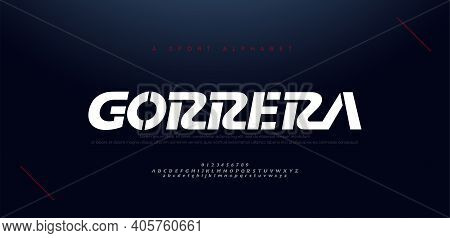 Sport Modern Italic Alphabet Fonts And Number. Typography, Abstract Technology, Fashion, Digital, Fu