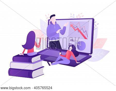 Cartoon Online Teaching For Web Design. Cartoon Character. Web Design. Character For Web Marketing D