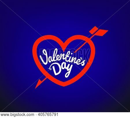Vallentines Day Vector Logo Design With Hearts