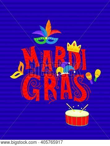Mardi Gras Carnival Party Concept. Vector Illustration