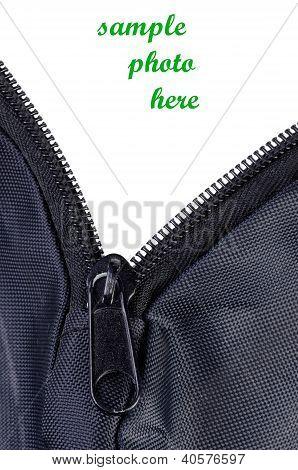 Open Zipper Of Fabric