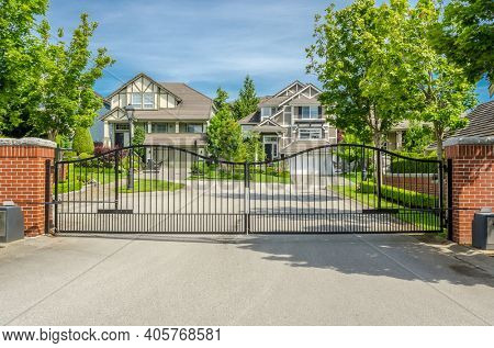 A nice entrance of a house in Vancouver, Canada.