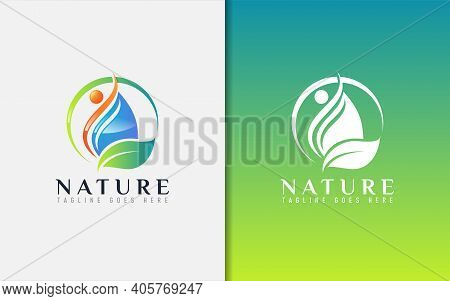 Abstract Health Nature Logo Design. Usable For Business, Community, Foundation, Services Company. Ve