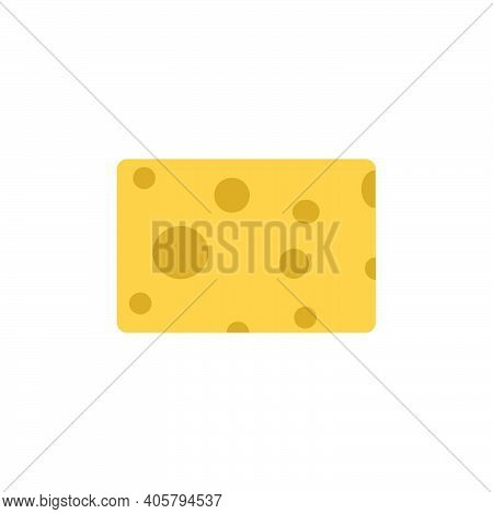 Vector Illustration Chesse Piece Design Icon Isolated Whit Sign. Simple Yellow Element Square Food S
