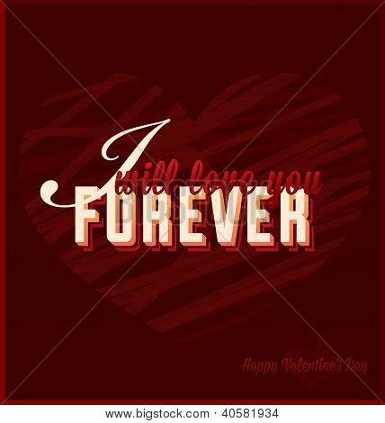 I Will Love You Forever Card