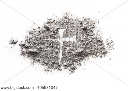 Nail For Jesus Cross And Crucifixion As Symbol Of Calvary, Pain And Suffering Of Son Of God On Good