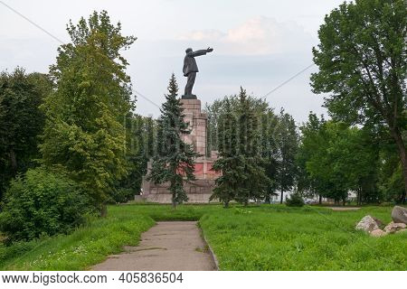 The Monument To Lenin Is One Of The Largest Monuments To Lenin In Russia. The Monument Is Erected On