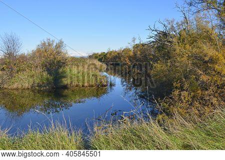 Winter In The Wetland Lagoon Area Near Grado, Friuli-venezia Giulia, North East Italy
