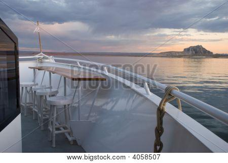 Open Air Bar On Yacht