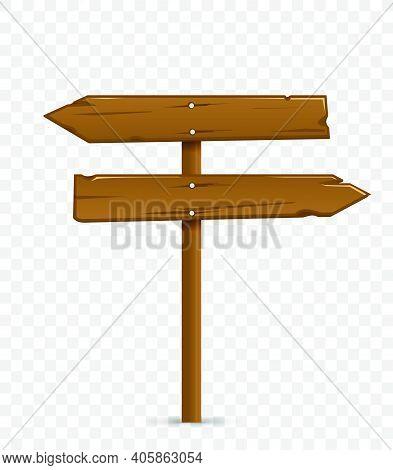 Road Destination Wood Board. Vector Illustration. Vector Illustration